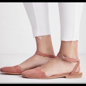 Free People- Korine Ballet Flat in Blush